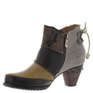 Glitzy Girlz Boutique Rags Bootie, Taupe