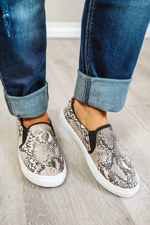Glitzy Girlz Boutique Reba Sneakers, Snake