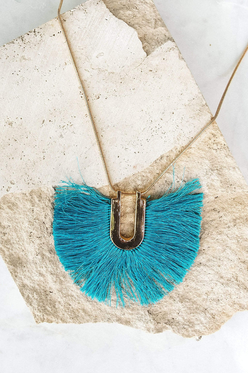 Glitzy Girlz Boutique Rio Blues Necklace, Turquoise