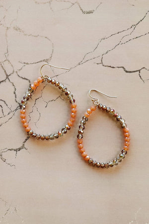 Glitzy Girlz Boutique Save The Drama Earrings, Orange Tones