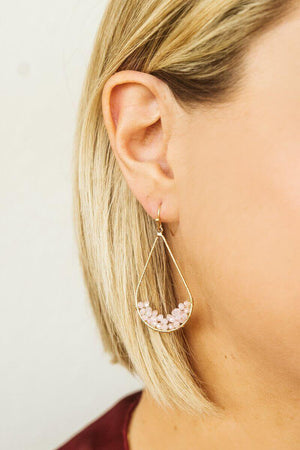 Glitzy Girlz Boutique Shed No Tears Earrings, Pale Pink