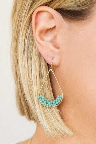 Glitzy Girlz Boutique Shed No Tears Earrings, Turquoise
