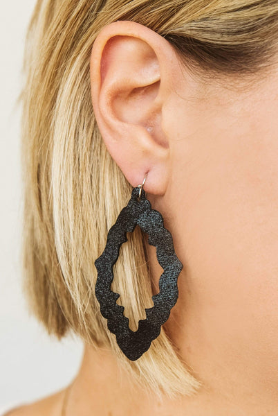 Glitzy Girlz Boutique Shimmer Earrings, Black