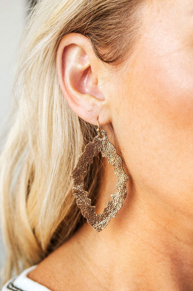 Glitzy Girlz Boutique Shimmer Earrings, Gold