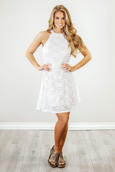 Glitzy Girlz Boutique Simply Elegant Dress, Ivory/Nude