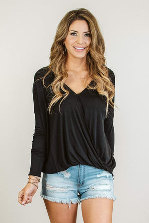 Glitzy Girlz Boutique Simply Yours Top, Black