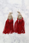 Glitzy Girlz Boutique Somebody Soon Earrings, Burgundy