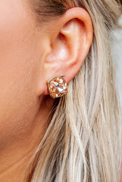 Glitzy Girlz Boutique Southern Charm Post Earrings, Champagne