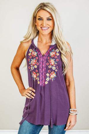 Glitzy Girlz Boutique Spirit Of Spring Top, Plum