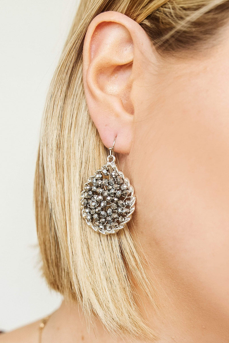 Glitzy Girlz Boutique Star Of The Show Earrings, Shiny Silver