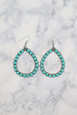 Glitzy Girlz Boutique Star Of The Show Earrings, Turquoise