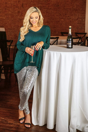 Glitzy Girlz Boutique Style On Move Top, Emerald