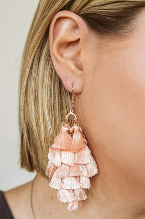 Glitzy Girlz Boutique Subtle Changes Earrings, Pink