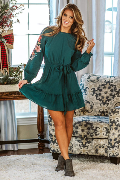 Glitzy Girlz Boutique Such A Charmer Dress, Teal