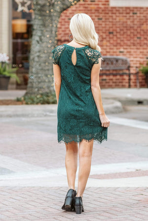 Glitzy Girlz Boutique Sweetest Thing Dress, Hunter Green