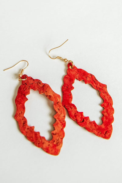 Glitzy Girlz Boutique Take Note Earrings, Red