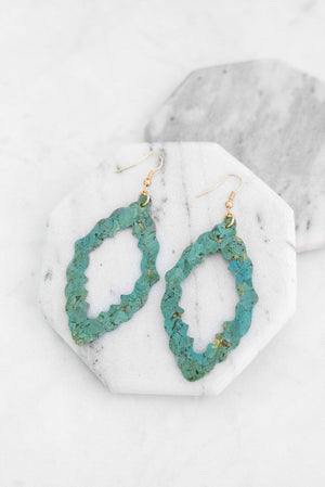 Glitzy Girlz Boutique Take Note Earrings, Turquoise