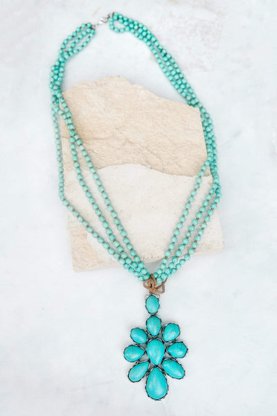 Glitzy Girlz Boutique That Was All She Wrote Necklace, Turquoise