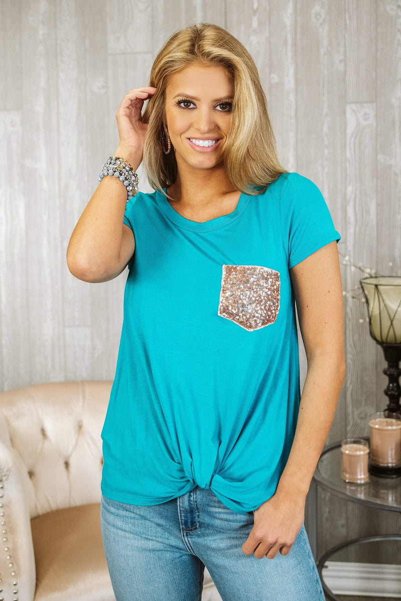 Glitzy Girlz Boutique The Best Of You Top, Jade