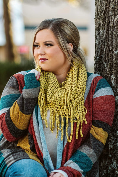 Glitzy Girlz Boutique The Mollie Scarf, Mustard