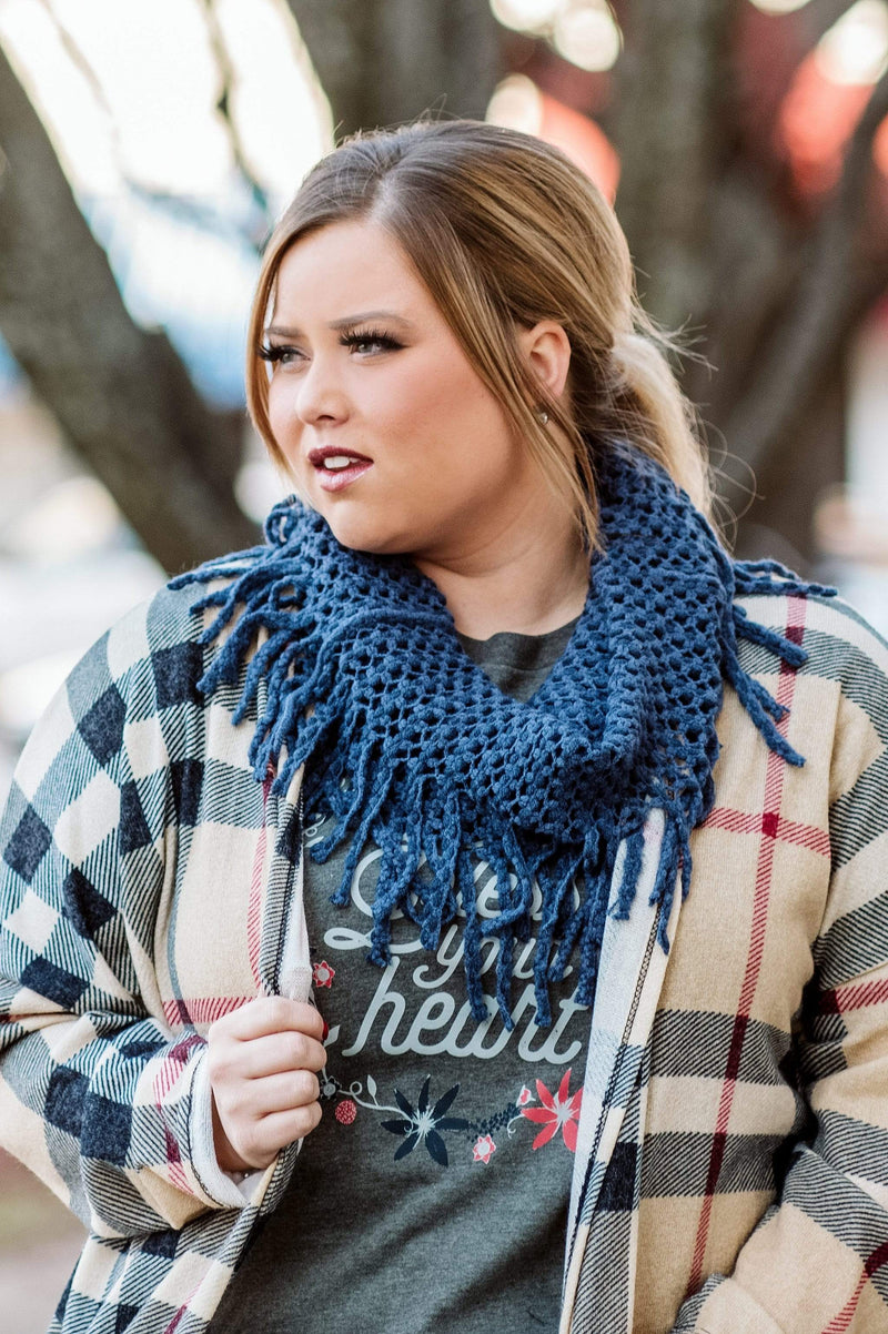 Glitzy Girlz Boutique The Mollie Scarf, Navy