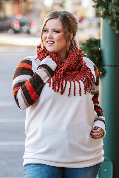 Glitzy Girlz Boutique The Mollie Scarf, Rust