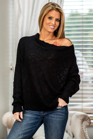 Glitzy Girlz Boutique To Love Somebody Sweater, Black