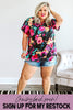 Glitzy Girlz Boutique Trend Setter Curvy Top | Cute Plus Size Floral Top