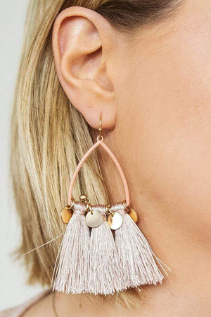 Glitzy Girlz Boutique Trending Now Earrings, Mauve