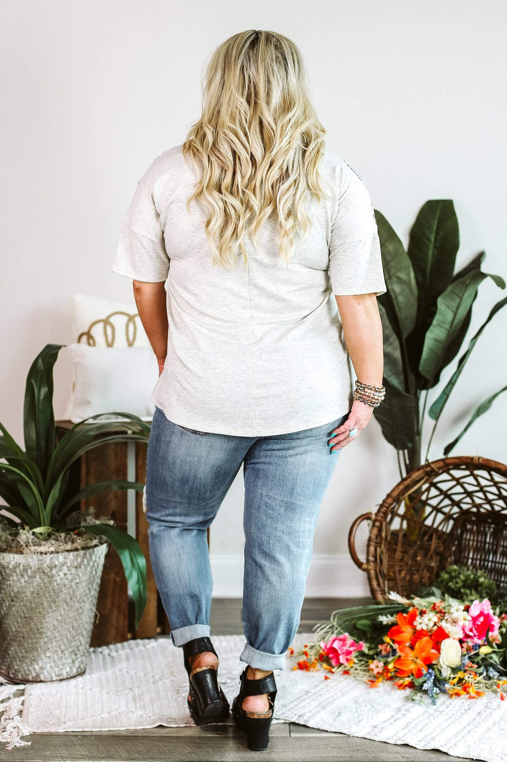 Glitzy Girlz Boutique Turning Wild Curvy Top | Trendy Casual Plus Top