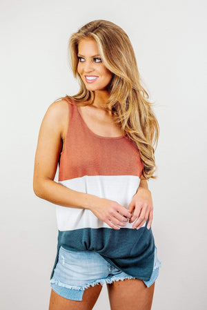 Glitzy Girlz Boutique Weekend Vibes Top, Rust
