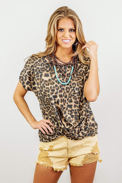 Glitzy Girlz Boutique Wild Side Of Things Top, Leopard