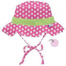 Classic Reversible Ruffle Bucket Sun Protection Hat - Young Vogue - 1