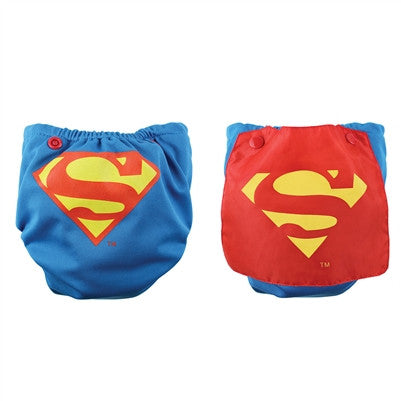 Bumkins DC Comics Snap-In-One Cloth Diaper with Cape - Young Vogue - 1