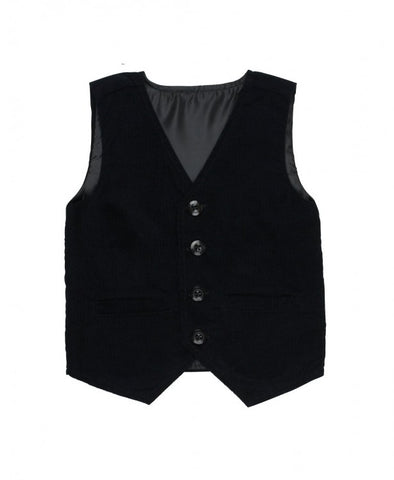 Ruggedbutts Black Corduroy Vest
