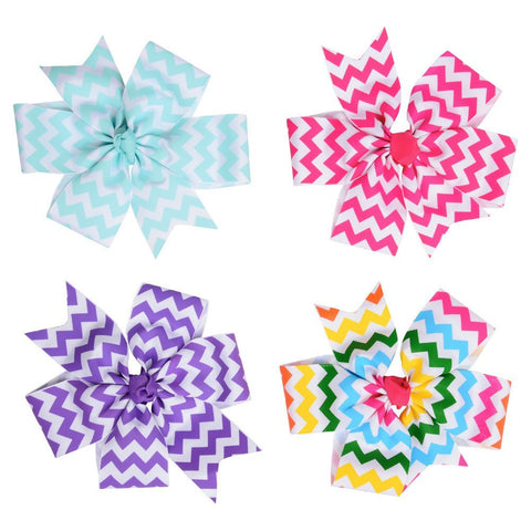 JuDanzy Chevron Bows - Young Vogue