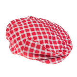 Red Plaid Cabbie Hat - Young Vogue - 2