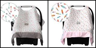 COZY HAPPENS MUSLIN INFANT CAR SEAT CANOPY