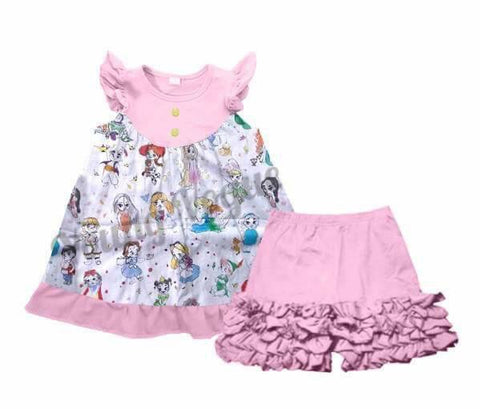 Disney Flutter Top W/ icing Shorts