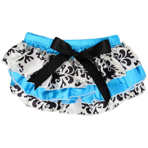 JuDanzy Turquoise Damask Satin Diaper Cover - Young Vogue