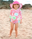 Tropical Garden One Piece Rash Gaurd