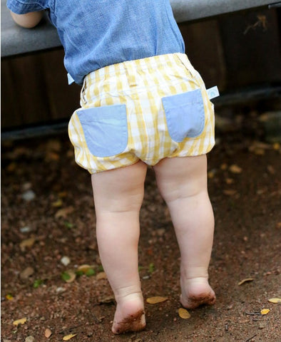 Ruggedbutts Yellow Gingham Bloomer
