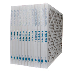 15x20x1 Furnace Filter MERV 8 Pleated Filters. Case of 12