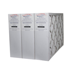 "White Rodgers 16x26x5 Furnace Filter Actual Size 16 1/4"" x 26"" x 5"" MERV 8. Case of 3"