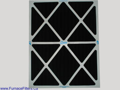 20x25x1 Carbon Pleated Furnace Filters. Case of 12.