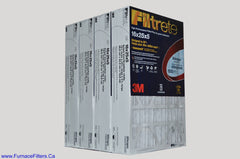 3M Filtrete 16x25x5 Furnace Filter Case of 4.