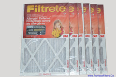 3M Filtrete 16x25x1 Furnace Filter MPR 1000. Case of 6
