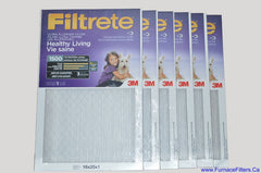 3M Filtrete 16x25x1 Furnace Filter MPR 1500. Case of 6.
