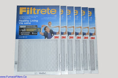 3M Filtrete 16x25x1 Furnace Filter MPR 1900. Case of 6.