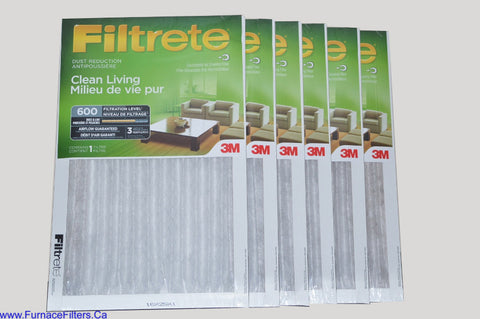 3M Filtrete 16x25x1 Furnace Filter MPR 600. Case of 6.